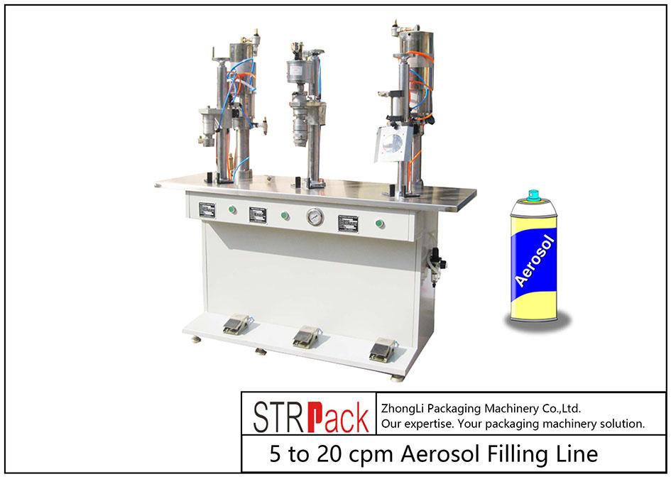 Machine de remplissage semi-automatique d'aérosol