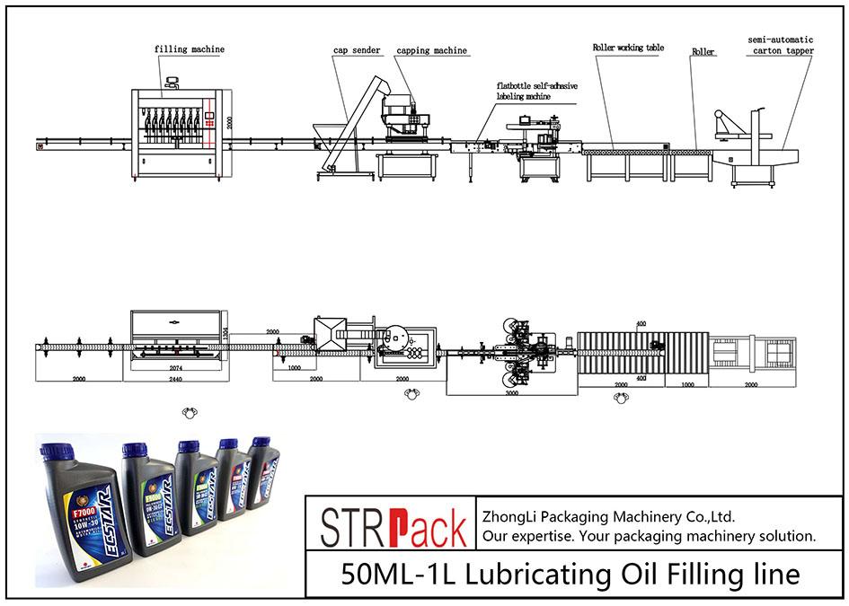 Ligne de remplissage d'huile de lubrification 50ML-1L automatique