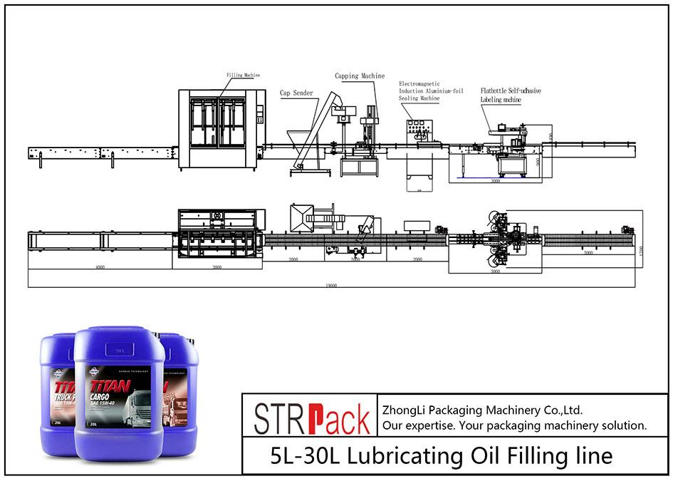 Ligne de remplissage automatique d'huile de lubrification 5L-30L