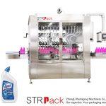Machine de remplissage liquide pour bouteilles à col angulaire