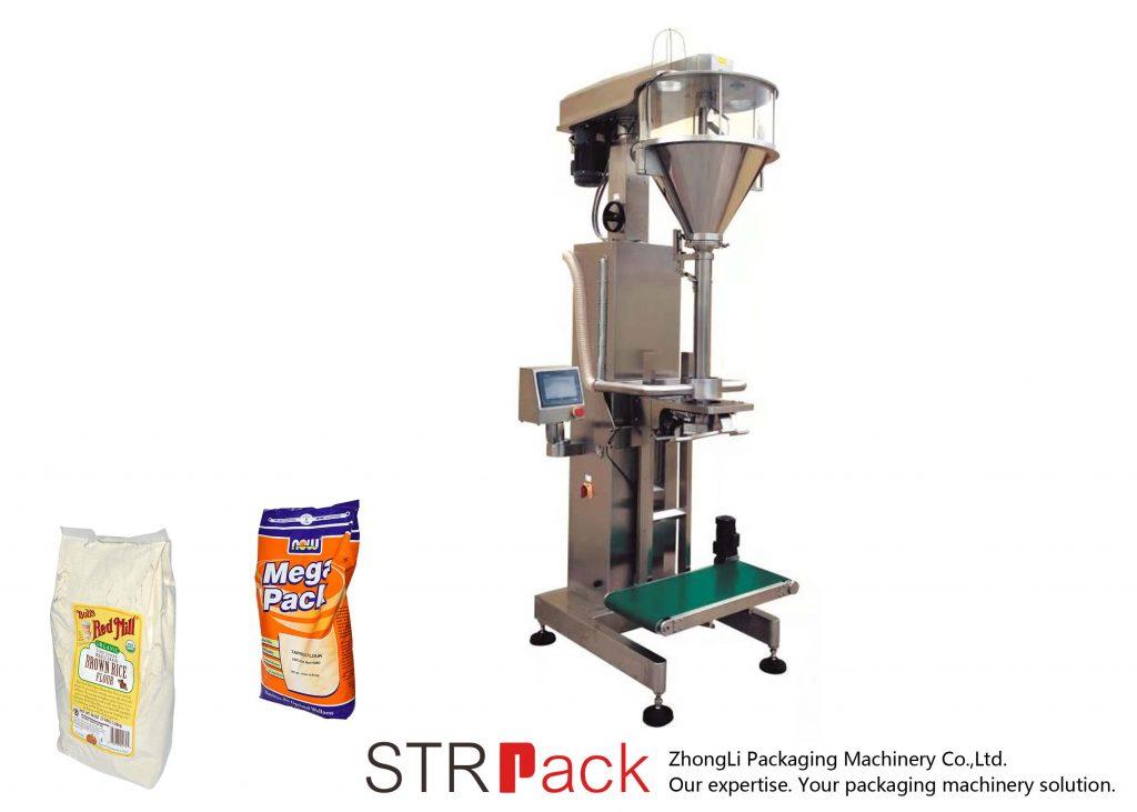 Machine de remplissage de poudre de tarière avec peseuse en ligne