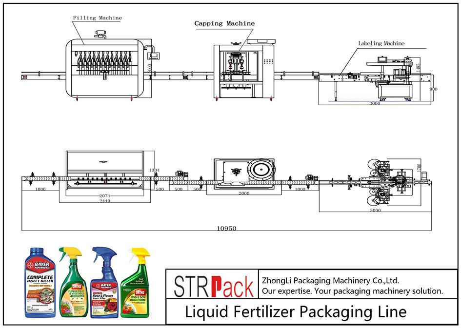 Ligne de conditionnement d'engrais liquide automatique