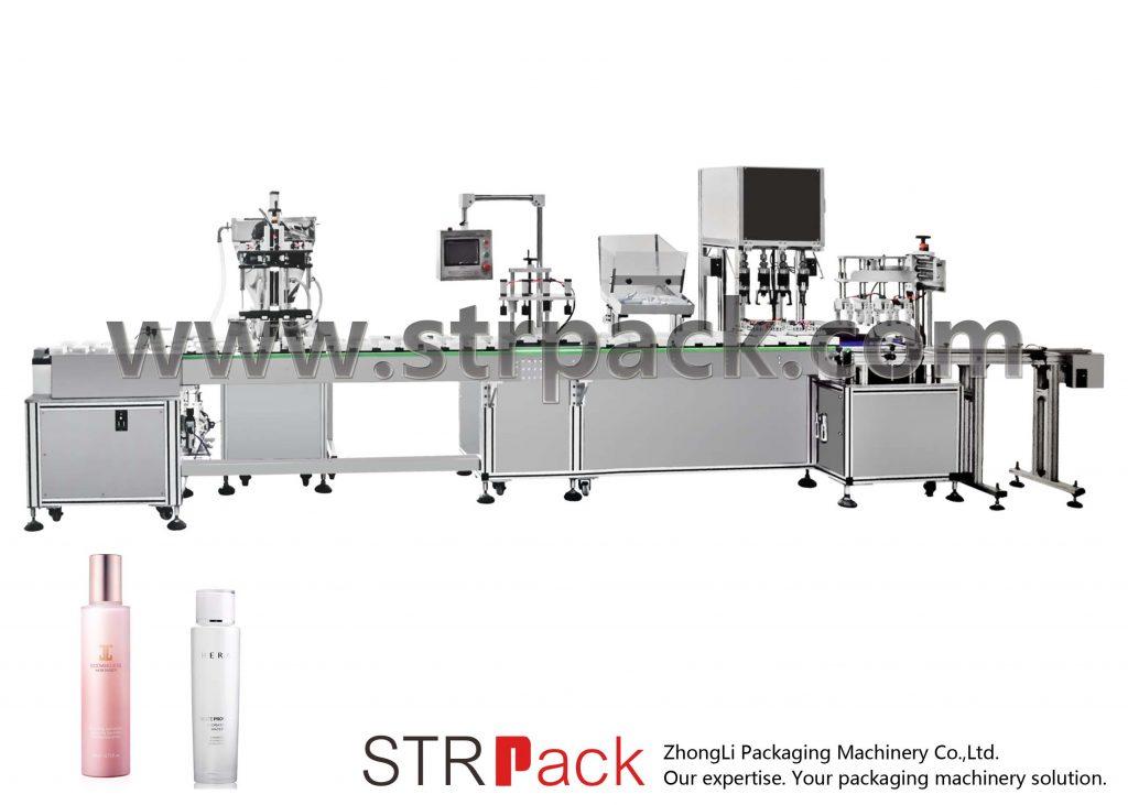 Machine de remplissage et de bouchage d'émulsion d'eau automatique