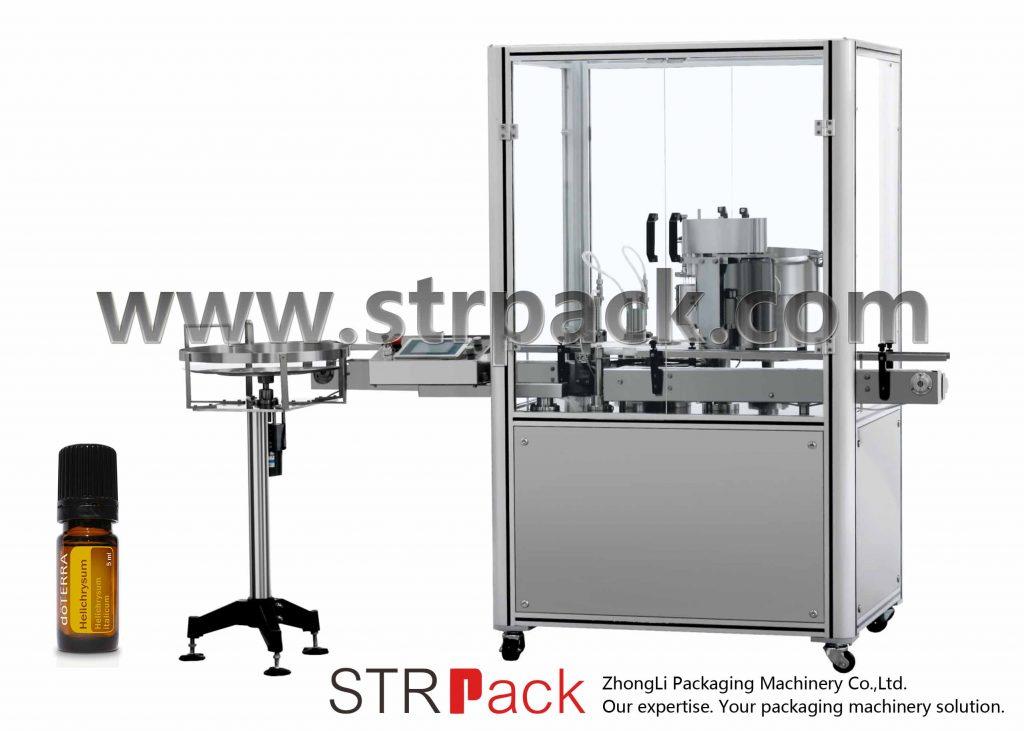 Machine de pressage de bouchon de remplissage d'huile essentielle