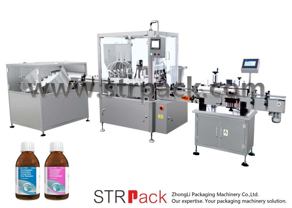 Machine de remplissage et de capsulage de sirop liquide oral