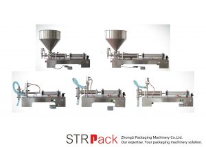 Machine de remplissage liquide à piston semi-automatique