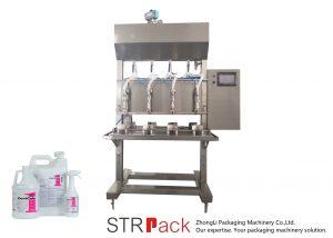 Machine de remplissage liquide semi-automatique par gravité