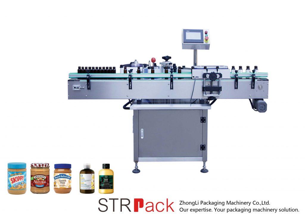 Machine à étiquettes verticale auto-adhésive pour bouteilles rondes